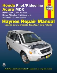 2007 honda ridgeline shop manual