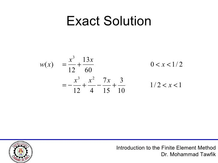 introduction to finite element method solution manual