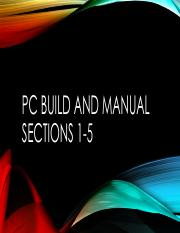 pc build and manual part 1 umuc