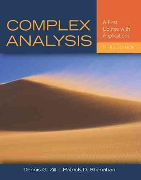 complex analysis dennis g zill 3rd edition solution manual