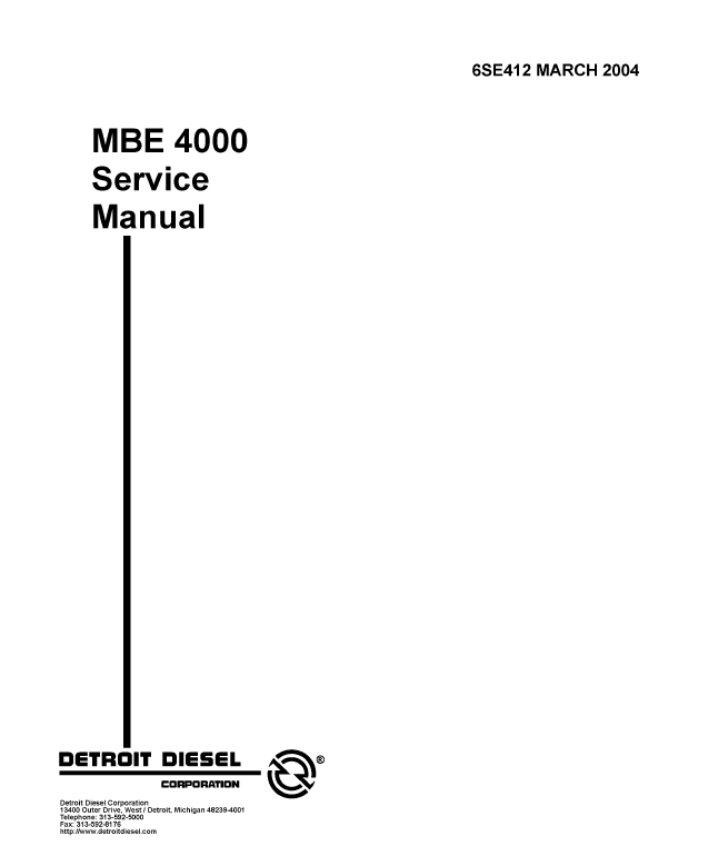 mbe 900 international parts manual