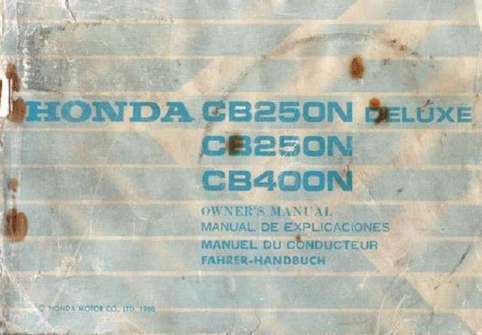 honda cb400n workshop manual pdf