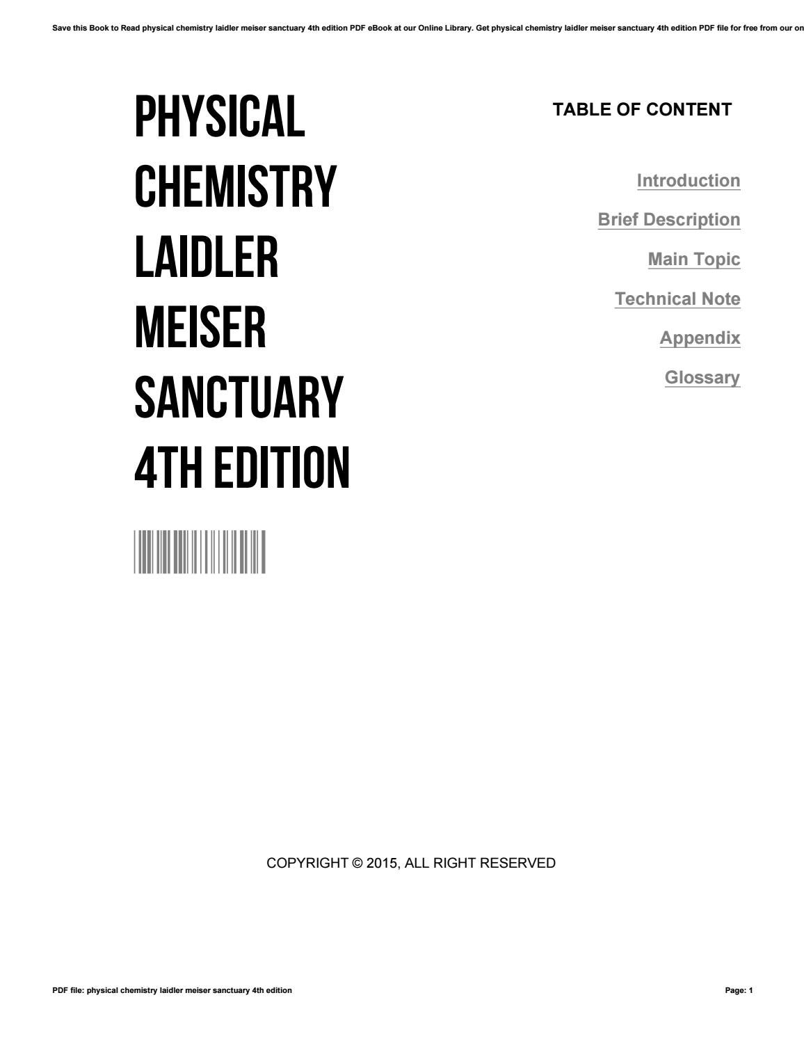 physical chemistry laidler 4th edition solution manual